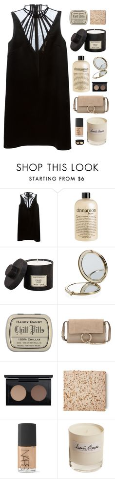 """""""Don't wanna hear about your horoscope"""" by nandim ❤ liked on Polyvore featuring Christopher Kane, philosophy, Henri Bendel, Chloé, MAC Cosmetics, NARS Cosmetics, Olfactive Studio and Bobbi Brown Cosmetics"""
