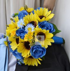 Aliexpress.com : Buy High simulation Sunflower+Daisy bridal - I would like to see a different blue, darker or purple