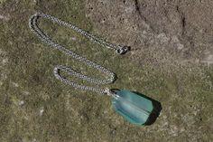 Large Chalcedony Necklace, Sea Green Chalcedony Green Chalcedony Necklace Long Drop Necklace Irregular Cut Chalcedony Beach Wear Necklace by BaileyBespoke on Etsy
