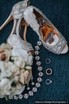 Elegant wedding shoes - fall, classic, traditional, silver, high heels {Rebecca Skidgel Photographya}