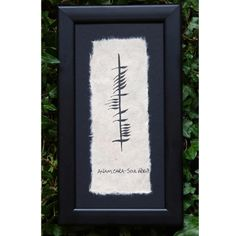 "Ogham Ancient Irish Writing ""Anam Cara"" (Soul Mate)"