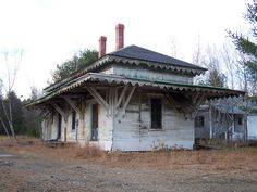 Abandoned Boston & Maine Station in Ossippee, NH.