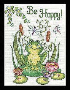 Cross Stitch Kit BE HOPPY Design Works Frog от TheAngelsNook