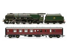 The LMS Duchess of Sutherland and Support Coach, in the Hornby range of Steam Locomotives accurately recreates the real life loco in stunning detail.