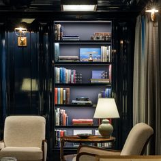 The building's architect gives AD an exclusive tour of the space and explains his inspiration for stacking the shelves Home Library Design, Home Office Design, Small Home Libraries, Library Bookshelves, Library Furniture, Building A House, Building Ideas, Office Setup, Book Nooks