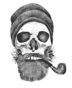 Sailor skull illustration