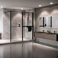 Shower spaces Kuadra HWZ1 Frame - Novellini Wet Floor, Trim Color, Contemporary, Modern, Double Vanity, Master Bathroom, Your Style, Flooring, Frame