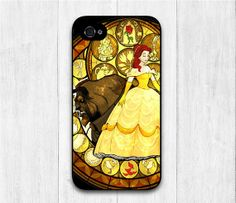 Beauty And the Beast iPhone 4 case, Disney iphone 4 4s 4g hard case, cover skin case for iphone 4/4s/4g, Hard Or Rubber Case