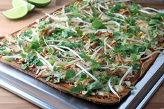 Keto Thai Chicken Flatbread Pizza | Ruled Me