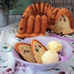 Receta de bundt cake de ron y pasas, sabor Málaga