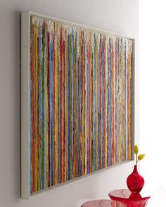 """""""Delineation"""" Painting by Rosenbaum Fine Art at #Horchow... love the colors in this.This would be great inspiration in a play room."""