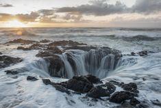 Thor's Well at Cape Perpetua - Oregon coast drive attractions