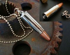 Valentine's Gift, Secret Stash Necklace Bullet, What is your Poison, Container Necklace, Long Silver Ball Chain, Nice Tight Seal, Gift Boxed