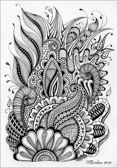 Zentangle art_Viktoriya Crichton.