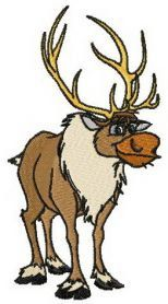 instant download Sven the moose from Disney's Frozen embroidery designs for only $1.99 several sizes and formats