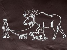Walking the Moose Women's Tee  This WILL be me one day!