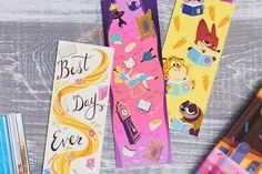 Encourage your little ones to get excited about reading with this assortment of printable Disney bookmarks!