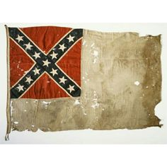 "Headquarters Flag of General Robert F. Hoke A native of Lincolnton, General Robert F. Hoke rose to the rank of major general during the Civil War. This is a second national pattern Confederate flag adopted on May 1, 1863 and used until replaced on March 4, 1865. Because of its large white field this pattern flag was nicknamed the ""stainless banner."" This flag most certainly marked Hoke's headquarters during his brilliant victory at Plymouth, North Carolina on April 20, 1864. This flag was…"