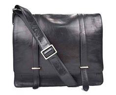 6137a88b71 Messenger pelle uomo donna con tracolla borsa postino vera pelle nero borsa  pelle ufficio cartella portadocumenti