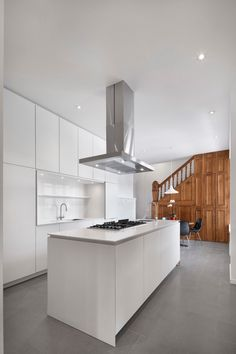 Custom cabinetry was designed by RobitailleCurtis, built by Kastella. Images Of Kitchen Islands, Kitchen Designs Photos, Best Kitchen Designs, Modern Kitchen Design, White Cabinets, Kitchen Cabinets, Cottage Kitchens, Modern Farmhouse Style, Urban