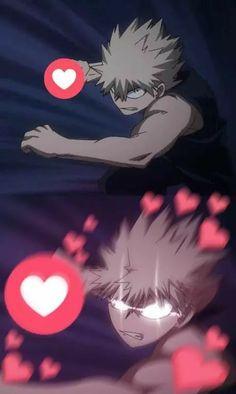 Boku No Hero Academia《One Shots》 - Bakugou Katsuki. My Hero Academia Memes, Hero Academia Characters, Anime Love, Memes Lindos, Anime Meme Face, Tamako Love Story, Comic Anime, Heart Meme, Anime Expressions