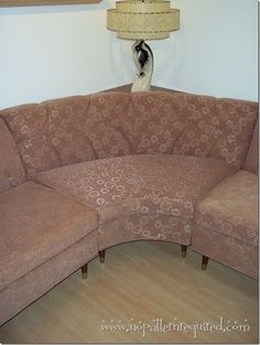 Sara's Journey To Obtain A Dreamy 1960s Vintage Frieze Sectional Sofa! | No Pattern Required