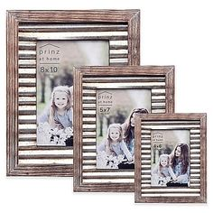 The Prinz Galvanized Metal and Wood Border Frame will perfectly accentuate the beauty of whichever photo you choose to display in it. Featuring an aged, rustic appearance, it adds an eye-catching touch that will enhance any wall or table surface.