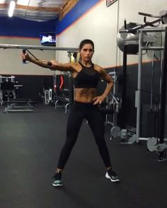 """5,751 Likes, 130 Comments - Alexia Clark (@alexia_clark) on Instagram: """"Cable Killa! Exercise 1: 20 reps each side Exercise 2: 15 reps each side Exercise 3: 15 reps…"""""""