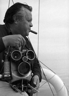 "Orson Welles during the shooting of ""The Deep"" (1970)."