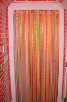 Ribbon Curtain...for The Bathroom Door. Different Color Than This