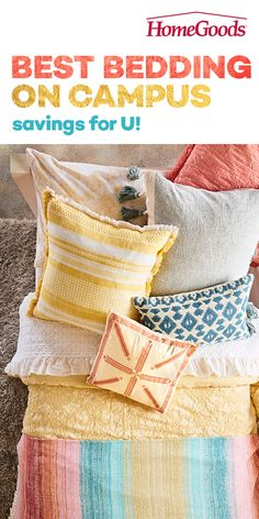 Need to do a little dorm decorating? HomeGoods has all things dorm room (including elusive Twin XL bedding!) at prices that're affordable for those on microwave noodle budgets. Girl Room, Girls Bedroom, Bedroom Decor, Bedroom Ideas, Twin Xl Bedding, Design Apartment, Interior Decorating Tips, Paint Colors For Home, Awesome Bedrooms