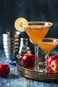 This Appletini cocktail conjures up the taste of Grandma's apple pie but it is strictly for after hours! Brown Sugar Simple Syrup, Simple Sugar, Schnapps, Graham Cracker Crumbs, Yummy Drinks, Apple Cider, Festive, Beverages, Cocktails