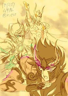 Capricorn Shura - Manga/Anime Vrs. Legend Of Sanctuary Vrs. In Surplice