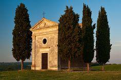 Vitaleta Chapel: near Pienza,province of Siena, Tuscany  Italy by Mike Blanchette, via Flickr