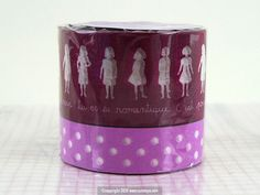 Girl Polka Dot Pattern Coup de Coeur Washi Tape PURPLE