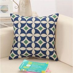 TOO COOL: Blue Medallion Ge.... Lowest Price Here: http://www.rousetheroom.com/products/blue-medallion-geometric-retro-pattern-throw-pillows?utm_campaign=social_autopilot&utm_source=pin&utm_medium=pin