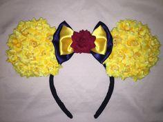Beauty and the beast Minnie Mouse Ears by Faiirytaleears on Etsy