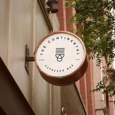 Clover and Crow - The Continental Espresso Bar. Shop Signage, Retail Signage, Signage Design, Branding Design, Logo Design, Coffee Shop Branding, Coffee Shop Logo, Cafe Branding, Deco Restaurant