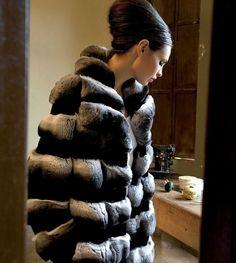 vintage chinchilla fur coat ads | chinchilla fur coat