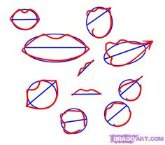 mouth shapes and line