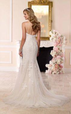 This Designer Wedding Dress From Stella York Features Glistening Diamante Beading On Pretty Lace Over Lavish Satin
