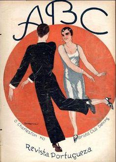 ABC, No. 342, Emmérico Nunes, February 31927 on Flickr.  Click image for 388 x 542 size.The Charleston at the Bristol Club Dancing.Via Hemeroteca Digital da Câmara Municipal de Lisboa