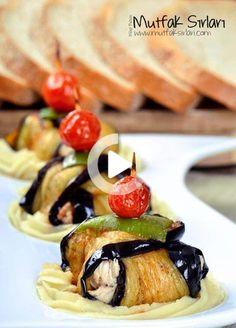 İslim (Toothpick) Kebab with Chicken - Kitchen Secrets - Practical Recipes #yemek #pratikyemek Eggplant Dishes, Chicken Kitchen, Dinner Recipes, Dessert Recipes, Dinner For One, Turkish Recipes, Iftar, Food Presentation, Chicken Recipes