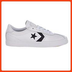 8e0148f935ac2 Converse 157777C   Breakpoint Leather Ox Unisex White Black White  (Boy Girl Men 9.0   Women 10.5