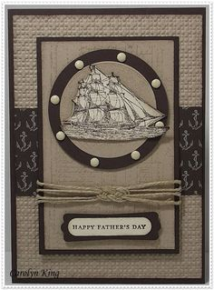 another great masculine sailing card
