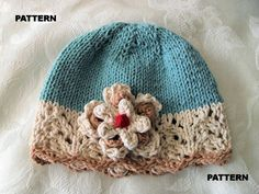 Knitting Pattern for Baby HatChildren by CottonPickings on Etsy, $4.99