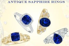 Valentines Surprise, Sapphire Jewelry, Natural Sapphire, Class Ring, Jewelry Collection, Gemstone Rings, Gemstones, My Favorite Things, Antiques
