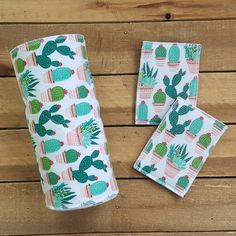 Cactus unpaper towel and sponge set, reusable paper towel, unpaper napkins, paperless towels, ecofri