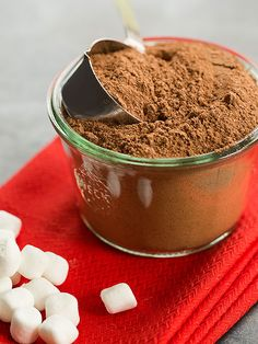 Easy Homemade Hot Chocolate Mix Recipe - Great for stashing for yourself or giving away as gifts!
