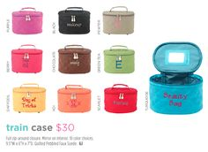 Train Case. Travel in Style. Page 16 http://initials-inc.com/ A great makeup bag. I love the Berry. @initialsInc #iiSpring